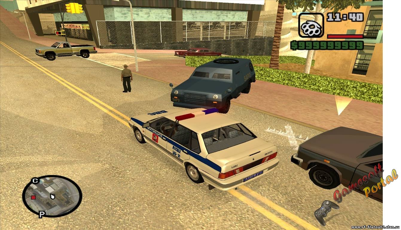 Improved Police Pursuit Mod v2.0 для GTA San Andreas